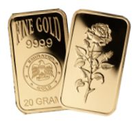 Gold: 20 gramm (20g) Goldbarren